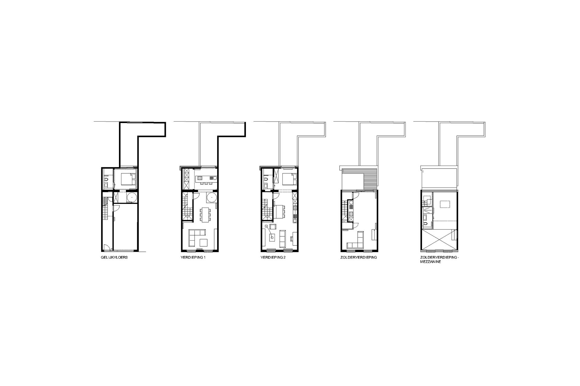 Stadsappartementen - Daken en volumes ...